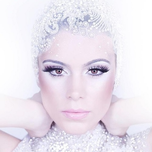 Snow Queen inspiration - in the image of the Snow Queen - Miss Brazil Earth 2013 Priscilla Martins