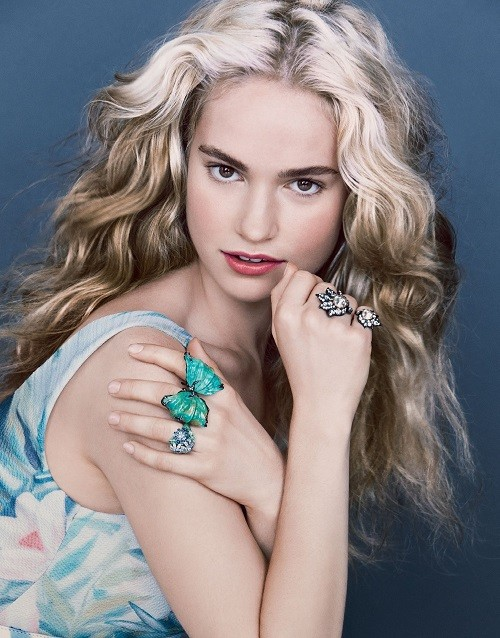 Actress Lily James (Cinderella)