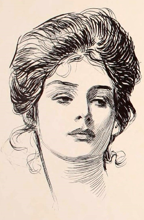 Gibson Girl iconic beauty. Charles Dana Gibson, 1902