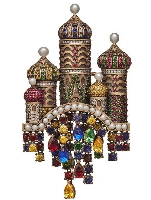 Reviving Russian tradition Axenoff Jewellery. St. Basil's Cathedral brooch