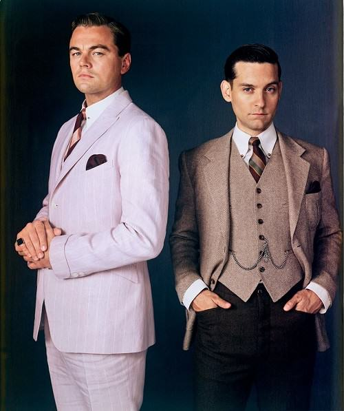 Leonardo DiCaprio and Tobey Maguire in The Great Gatsby, 2013