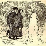 The tale of Andersen 'Snowman', engraving 1861