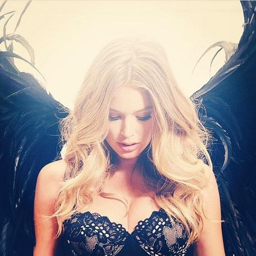 Beautiful Angel Doutzen Kroes. Victoria Secret fashion show, ready to spread wings Angel
