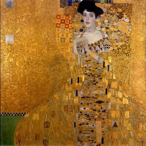 Símbolo de Austria Mujer en oro.  Retrato de Adele Bloch-Bauer de Gustav Klimt