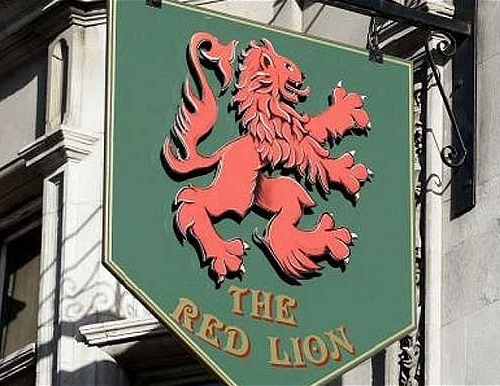The Red Lion pub logo