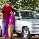 18-year-old Malee Duangdee east of Thailand, whose growth is now 210 cm included in the Guinness Book of Records