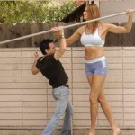 Amazon Eve, whom the Guinness Book of Records recognized the tallest female model in the world