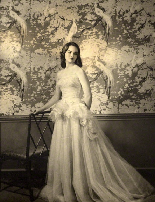 Beautiful 17-year-old Henrietta Tiarks Duchess of Bedford. 1957