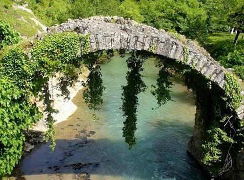Besleti Bridge, Sukhum, also known as the Queen Tamar Bridge. The Republic of Abkhazia