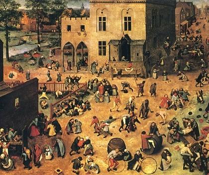Children's Games (1560) painting by Netherlandish Renaissance painter Pieter Bruegel the Elder