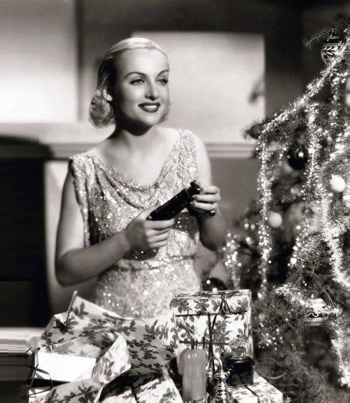 Carole Lombard Christmas photo