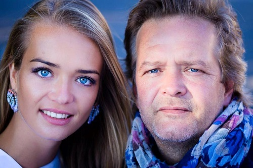 Miss Alsace 2015 Laura Muller with her dad