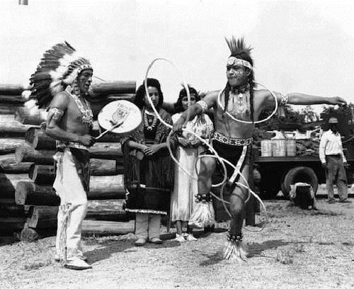 Native American hoop dancing. Tony White Cloud, 1930s