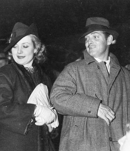 The first public appearance of Clark Gable and Carole Lombard as a pair. Racing on the Gilmore Stadium, April 18, 1936