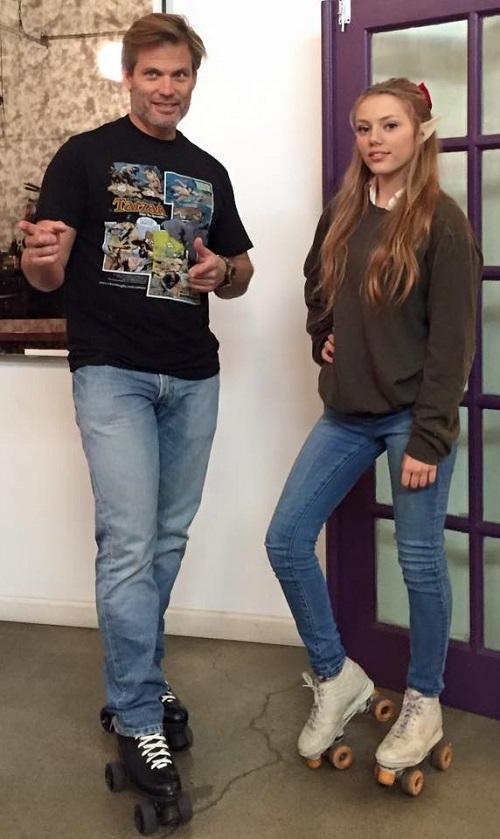 Father and daughter Casper Van Dien and Grace Van Dien