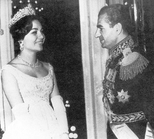 Wedding day of Shah Mohammad Reza Pahlavi and Farah Diba, 1959