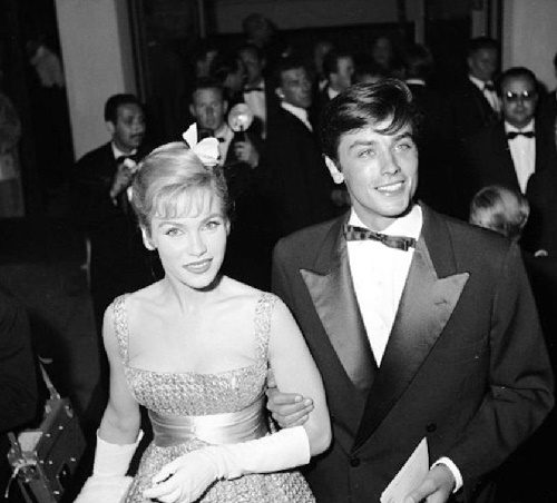 Alain Delon and Estella Blain