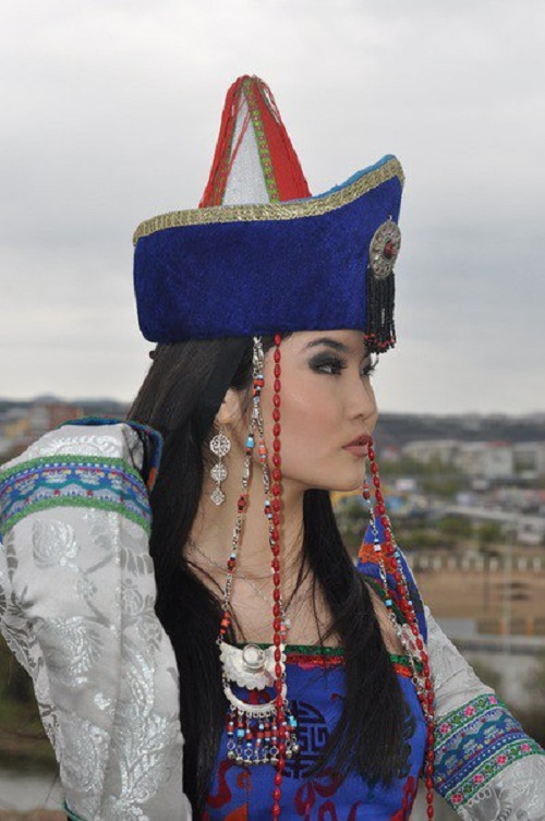 Beautiful Buryat woman