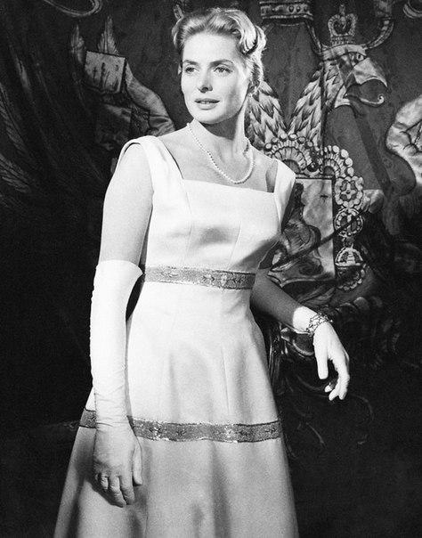 Vintage movie actress Ingrid Bergman