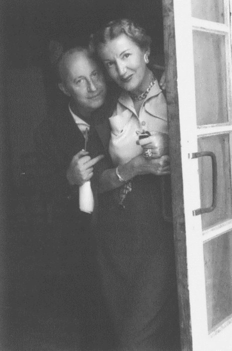 Christian Dior and Tatiana Yakovleva, 1950