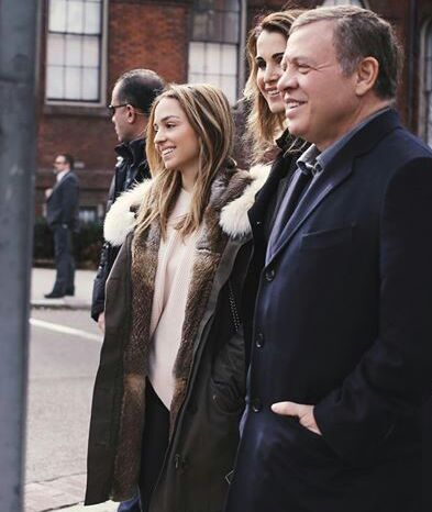 King Abdullah with Queen Rania and princess Iman