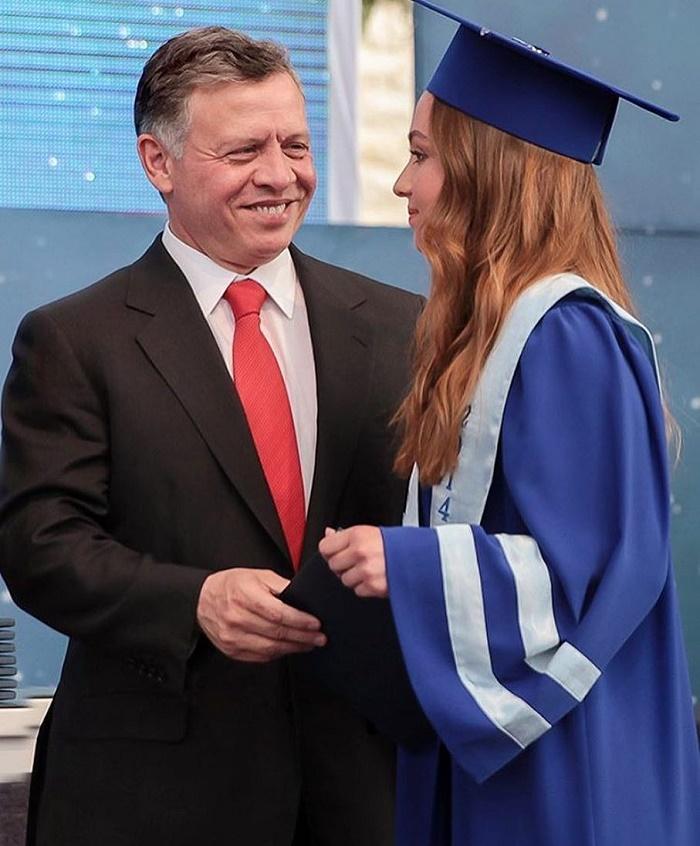 King Abdullah with his daughter Princess Iman