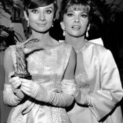 Audrey Hepburn and Gina Lollobrigida