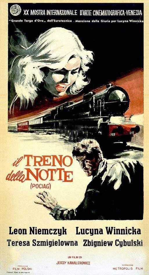 Italian Poster, Night train, 1959