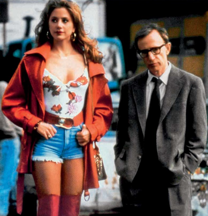 With Woody Allen in the film 'The Mighty Aphrodite'