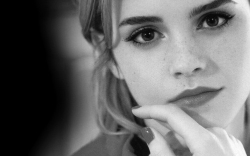 Emma Watson black and white photos