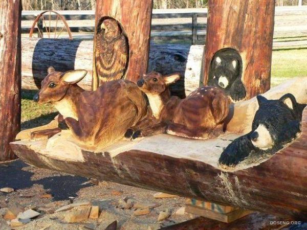 Wood Sculptures by Randall Boni