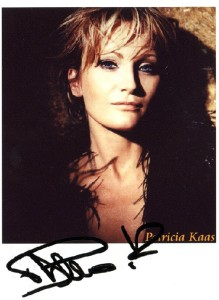 Signed photo of French singer and actress Patricia Kaas