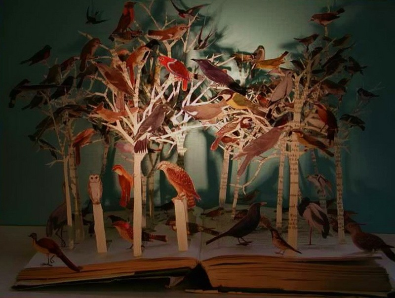 Paper art by British artist Su Blackwell