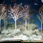 Winter landscape. Paper art by British artist Su Blackwell