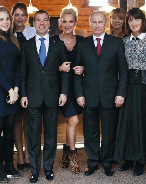 with president of Russia Vladimir Putin and Prime Muinister Medvedev