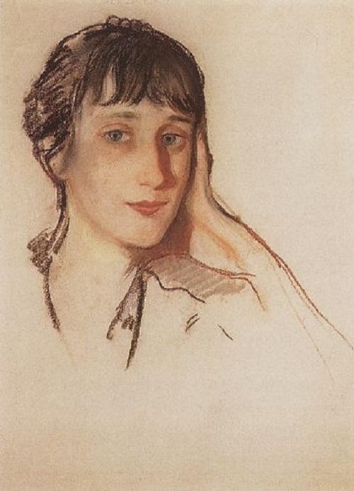 Anna Akhmatova, by artist Zinaida Serebriakova 1922