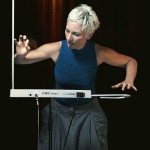 Barbara Buchholz playing theremin