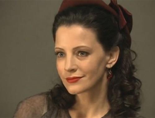 Russian actress Evgenia Kryukova