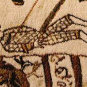Killed enemy. Bayeux Tapestry