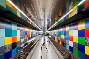 Metro stations hidden architecture