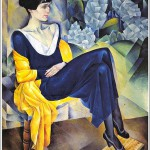 N. Altman. Portrait of Anna Akhmatova, in 1914. Russian Museum