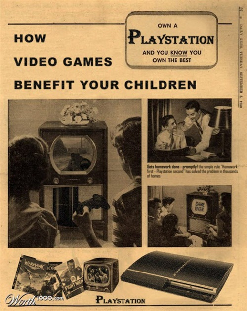 Playstation ads Vintage futurism of retro inspired ads