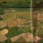'The Harvest' was influenced by the still life of Cezanne. The image was created near Lincoln, Nebraska to coincide with the Farm Aid Concert in 1987. It was planted with wheat, corn, and field grains.
