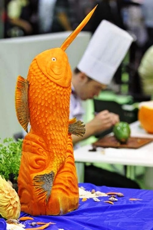 Vegetable carving competition in Leipzig