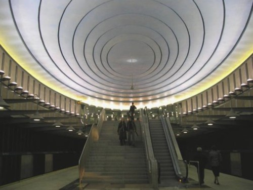 Warsaw Metro stations hidden architecture