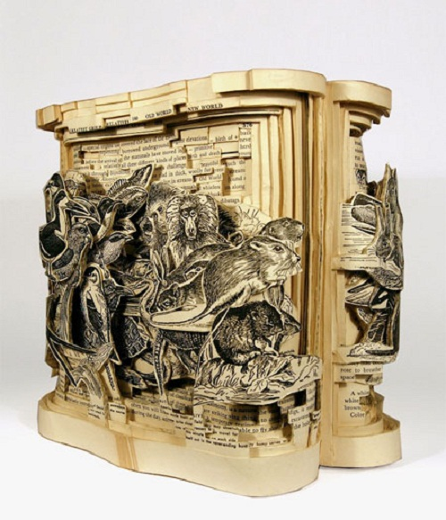 Art of papercut and book carving