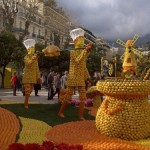 Citrus sculpture at the Menton lemon festival