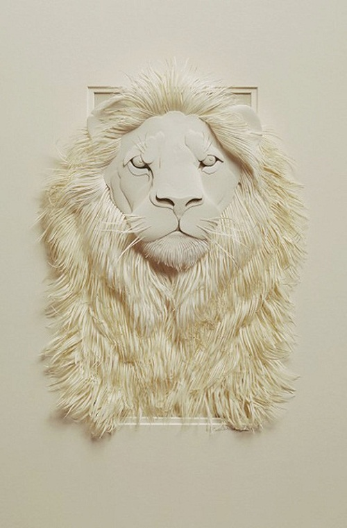 Paper art works by Canadian artist Calvin Nicholls