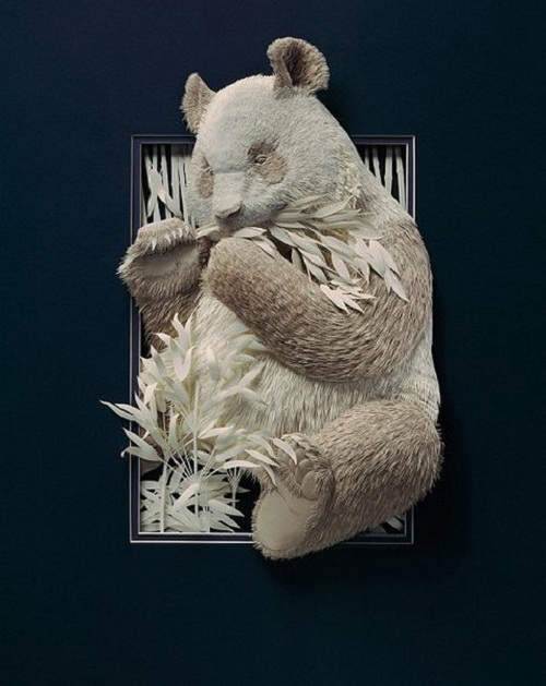 Paper art works by Toronto based artist Calvin Nicholls