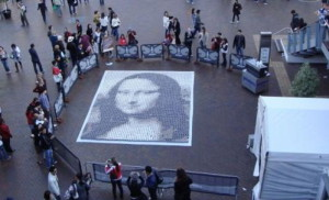 Mona Lisa Painting Made with 3604 Cups of Coffee
